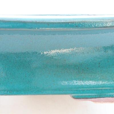 Ceramic bonsai bowl 20 x 15.5 x 6 cm, color green - 2