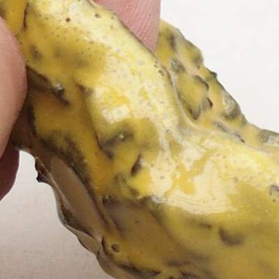 Ceramic shell 8.5 x 6 x 5 cm, color yellow - 2