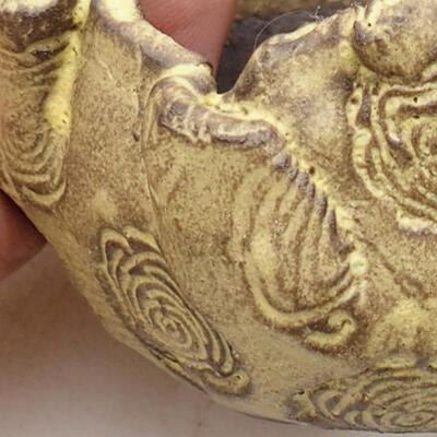 Ceramic shell 6.5 x 5.5 x 6 cm, yellow color - 2