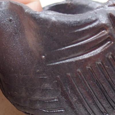 Ceramic shell 7.5 x 7.5 x 5.5 cm, metal color - 2