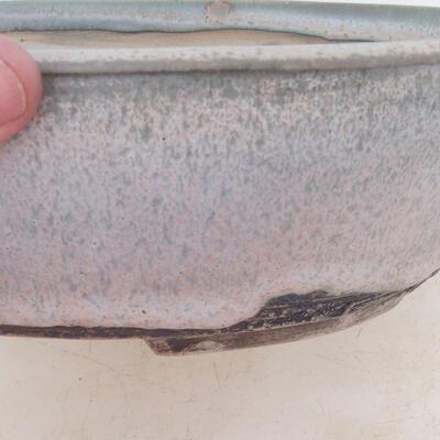 Bonsai bowl 24 x 19 x 7 cm, gray-beige color - 2