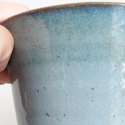 Ceramic bonsai bowl 10.5 x 10.5 x 13.5 cm, color blue - 2