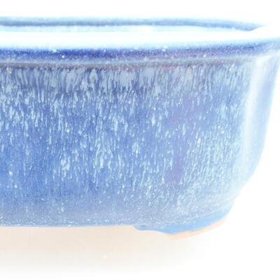Ceramic bonsai bowl 21 x 16.5 x 7 cm, color blue - 2