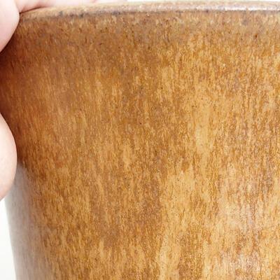Ceramic bonsai bowl 10.5 x 10.5 x 14 cm, brown color - 2
