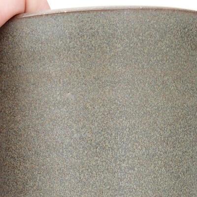 Ceramic bonsai bowl 10.5 x 10.5 x 14 cm, color brown-green - 2