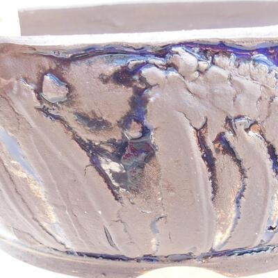 Ceramic bonsai bowl 20 x 20 x 7.5 cm, color gray-blue - 2