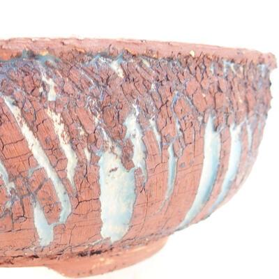 Ceramic bonsai bowl 18 x 18 x 6 cm, gray-blue color - 2