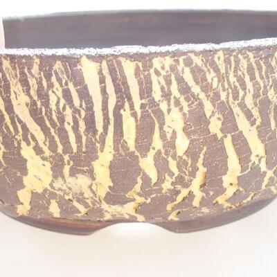 Ceramic bonsai bowl 18 x 18 x 6 cm, color gray-yellow - 2