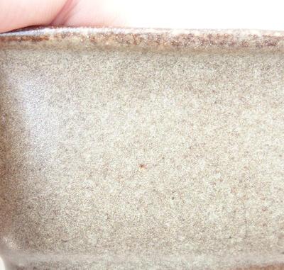 Ceramic bonsai bowl 12 x 9 x 5.5 cm, brown color - 2