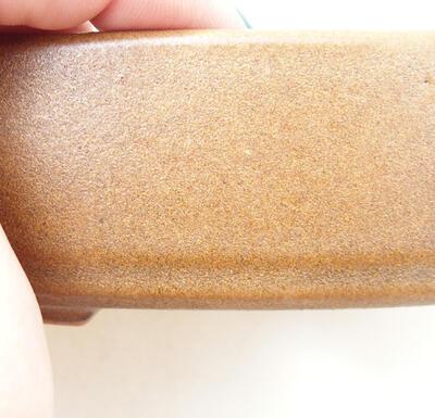 Ceramic bonsai bowl 12 x 8 x 4 cm, color brown - 2