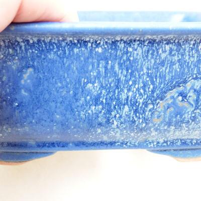Ceramic bonsai bowl 12 x 9 x 6 cm, color blue - 2