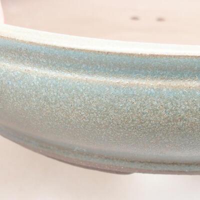 Ceramic bonsai bowl 17.5 x 17.5 x 4.5 cm, color green - 2