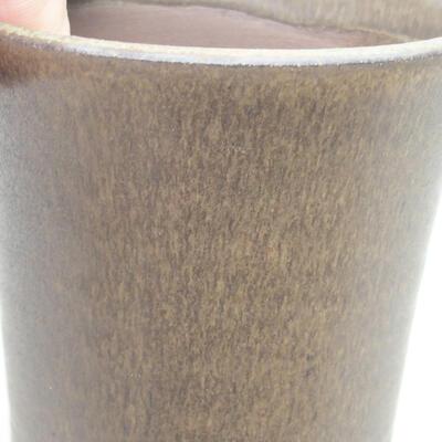 Ceramic bonsai bowl 10 x 10 x 10 cm, color brown - 2