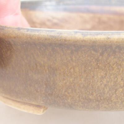 Ceramic bonsai bowl 12 x 11 x 3 cm, brown color - 2