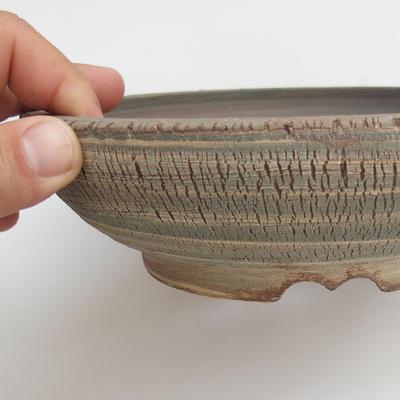 Ceramic bonsai bowl 18,5 x 18,5 x 6 cm, color gray - 2