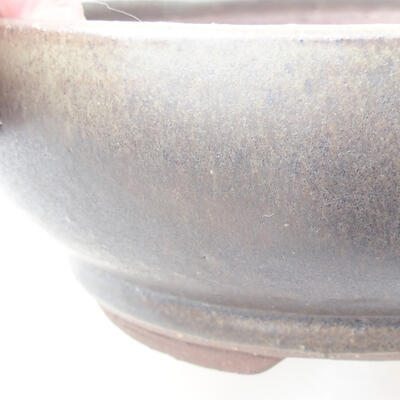 Ceramic bonsai bowl 18 x 18 x 6 cm, color green - 2