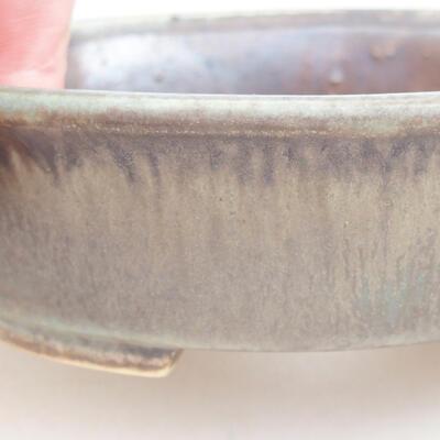 Ceramic bonsai bowl 12 x 11 x 3 cm, color brown-green - 2