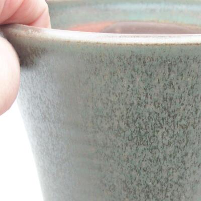 Ceramic bonsai bowl 12 x 12 x 11.5 cm, color green - 2