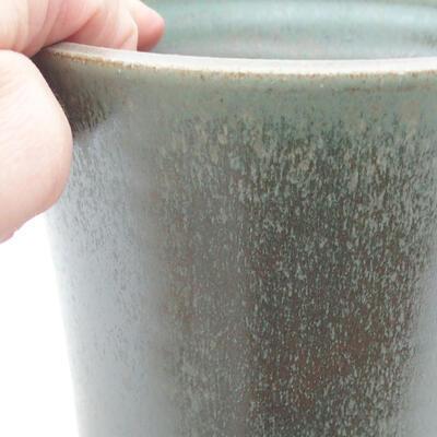 Ceramic bonsai bowl 12 x 12 x 12 cm, color green - 2