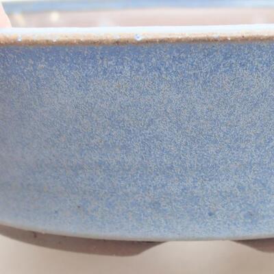 Ceramic bonsai bowl 18 x 18 x 4.5 cm, color blue - 2