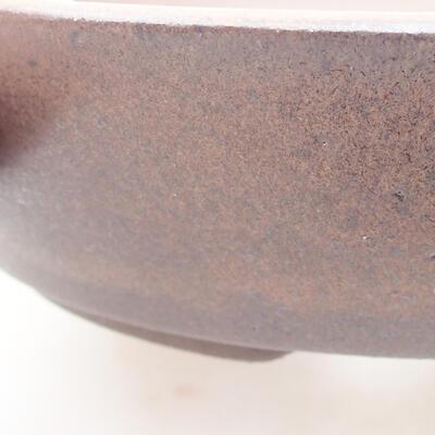 Ceramic bonsai bowl 19 x 19 x 4.5 cm, brown color - 2