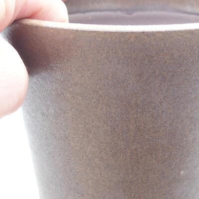 Ceramic bonsai bowl 12 x 12 x 13 cm, color brown - 2