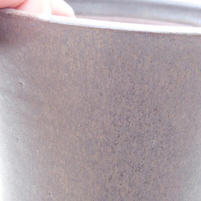 Ceramic bonsai bowl 10.5 x 10.5 x 12 cm, brown color - 2