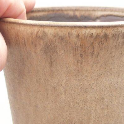 Ceramic bonsai bowl 11.5 x 11.5 x 12.5 cm, beige color - 2