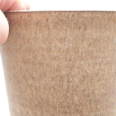 Ceramic bonsai bowl 11 x 11 x 13 cm, beige color - 2