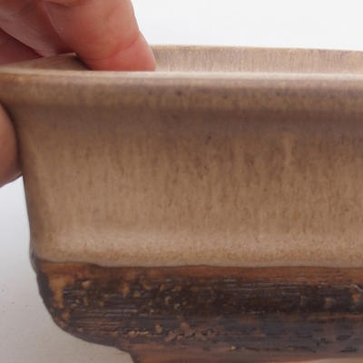 Ceramic bonsai bowl 17 x 12 x 6 cm, color brown - 2