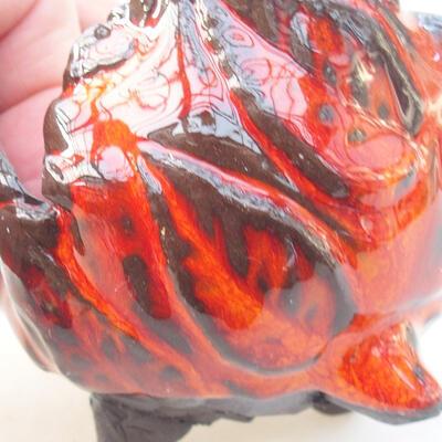 Ceramic shell 7 x 7 x 7 cm, color orange - 2