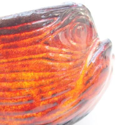 Ceramic shell 7 x 7 x 5 cm, color orange - 2