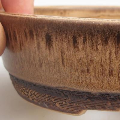 Ceramic bonsai bowl 15,5 x 15,5 x 4,5 cm, color brown - 2