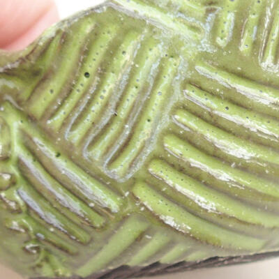 Ceramic shell 7.5 x 7 x 4 cm, color green - 2