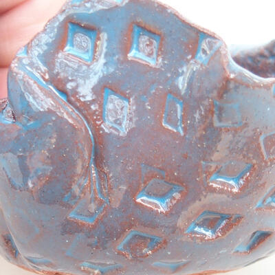 Ceramic shell 7 x 6.5 x 5.5 cm, color blue - 2