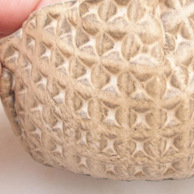 Ceramic shell 7 x 5.5 x 6 cm, beige color - 2