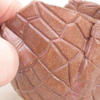 Ceramic shell 10 x 7.5 x 7 cm, brown color - 2