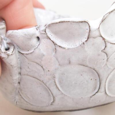 Ceramic shell 7 x 7 x 5 cm, white color - 2