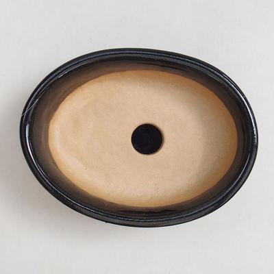 Bonsai bowl, tray H04 - bowl 10 x 7,5 x 3,5 cm, tray 10 x 7,5 x 1 cm - 2