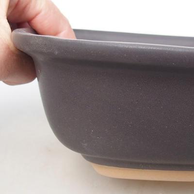 Ceramic bonsai bowl H 08 - 24,5 x 18 x 7 cm - 2
