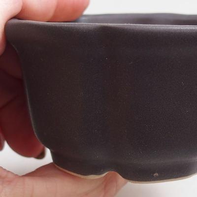 Bonsai bowl + tray H95 - bowl 7 x 7 x 4,5 cm, tray 7 x 7 x 1 cm - 2