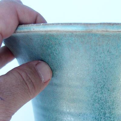 Ceramic bonsai bowl 21 x 21 x 21 cm color green - 2
