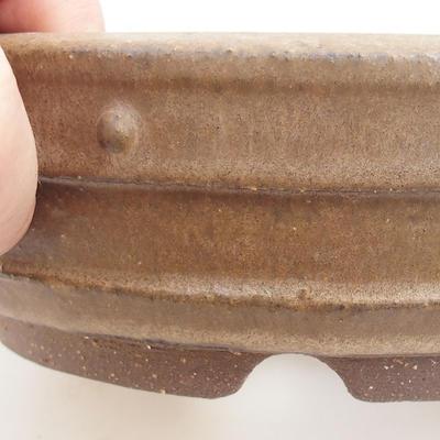 Ceramic bonsai bowl - 19 x 19 x 5,5 cm, color beige - 2