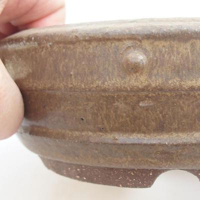 Ceramic bonsai bowl - 18 x 18 x 5,5 cm, color gray - 2