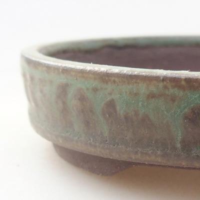 Ceramic bonsai bowl 9 x 9 x 2 cm, color green - 2