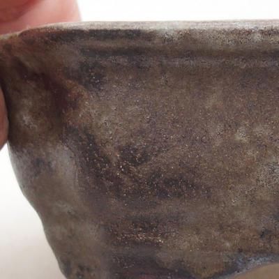 Ceramic bonsai bowl 15 x 12 x 4 cm, gray color - 2
