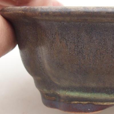 Ceramic bonsai bowl 15 x 12 x 4 cm, color green - 2