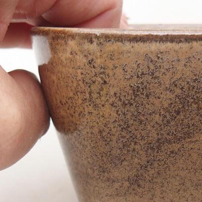 Ceramic bonsai bowl 13 x 10 x 5.5 cm, brown color - 2