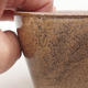Ceramic bonsai bowl 13 x 10 x 5.5 cm, brown color - 2/4