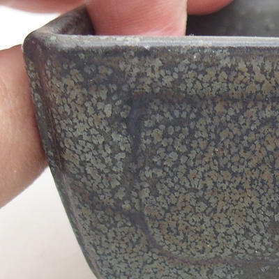 Ceramic bonsai bowl 13 x 9 x 4.5 cm, gray color - 2